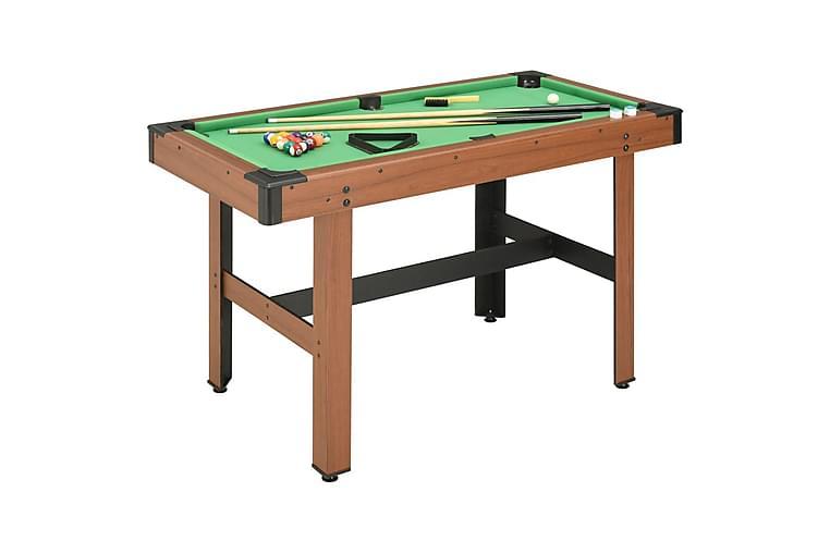 1,2 m Biljardipöytä 122x61x76 cm ruskea - Ruskea - Huonekalut - Pöydät - Pelipöytä