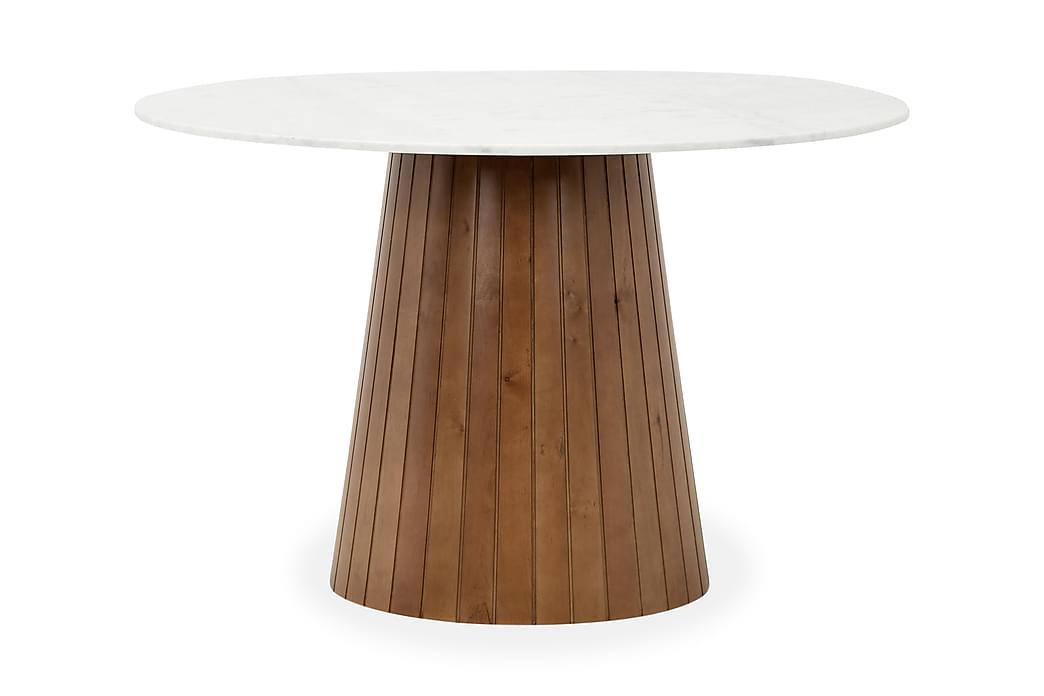 Pöytä Dunja Valkoinen/Pähkinä - 120 cm - Huonekalut - Pöydät - Ruokapöydät & keittiön pöydät