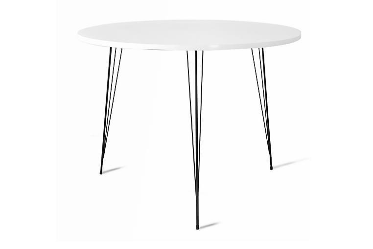 Pöytä Odet 90 cm - Valkoinen - Huonekalut - Pöydät - Ruokapöydät & keittiön pöydät