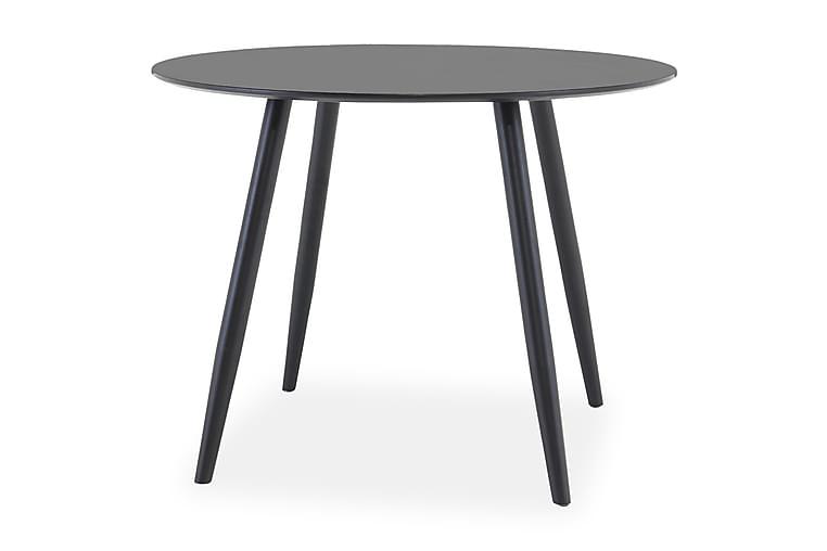 Pöytä Trym 100 cm Pyöreä - Musta - Huonekalut - Pöydät - Ruokapöydät & keittiön pöydät