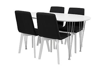 Ruokailuryhmä Canticum 150 cm Ovaali 4 Holcus tuolia