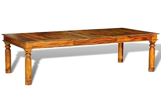 Ruokapöytä 180x85x76 cm koristeelliset jalat seesampuu - Ruskea - Huonekalut - Pöydät - Ruokapöydät & keittiön pöydät