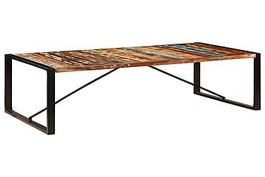 Ruokapöytä 200x100x75 cm kiinteä kierrätetty puu