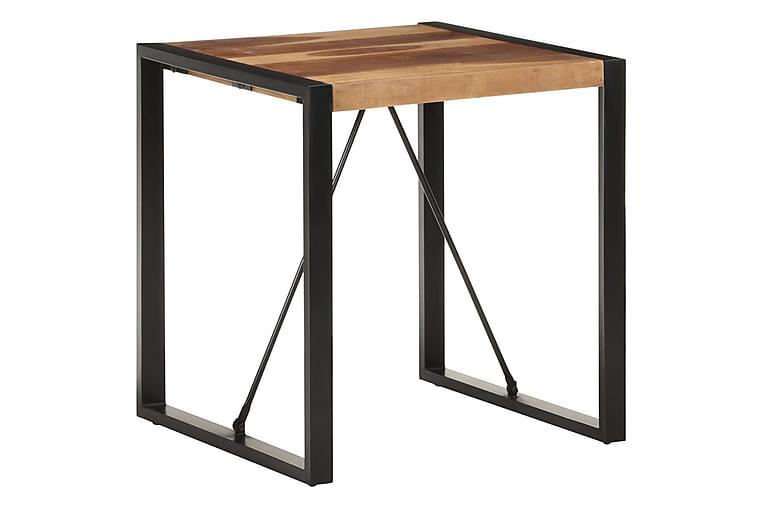 Ruokapöytä 70x70x75 cm täysi akaasiapuu seesamviimeistelyllä - Musta - Huonekalut - Pöydät - Ruokapöydät & keittiön pöydät