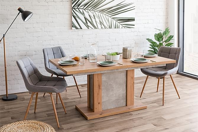 Ruokapöytä Almone - Tammi/Betoni - Huonekalut - Pöydät - Ruokapöydät & keittiön pöydät