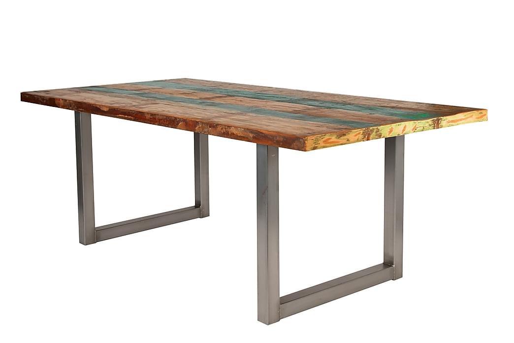 Ruokapöytä Arhunda - Punainen/Hopea - Huonekalut - Pöydät - Ruokapöydät & keittiön pöydät