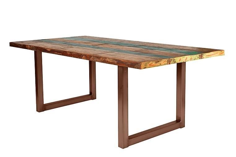 Ruokapöytä Arhunda - Punainen/Ruskea - Huonekalut - Pöydät - Ruokapöydät & keittiön pöydät