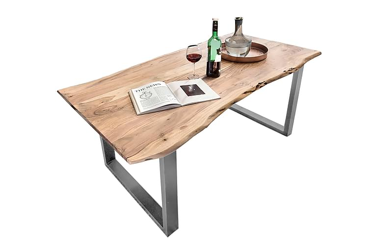 Ruokapöytä Arhunda - Puu/Luonnonväri/Hopea - Huonekalut - Pöydät - Ruokapöydät & keittiön pöydät