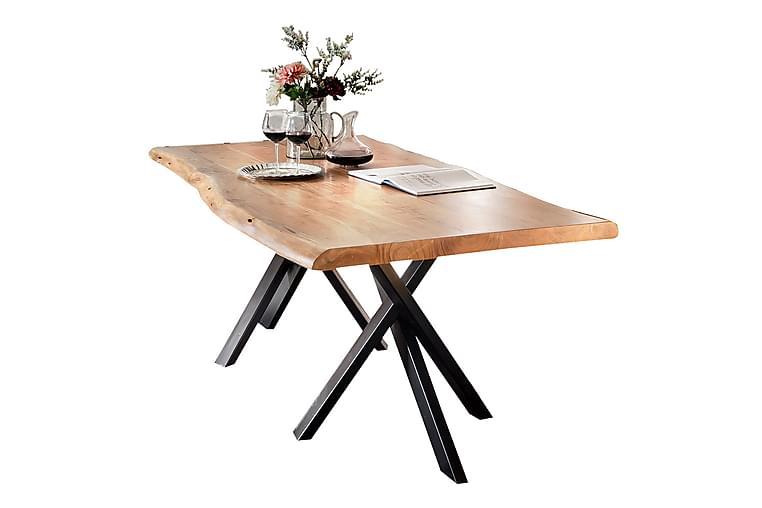 Ruokapöytä Arhunda - Puu/Luonnonväri/Musta - Huonekalut - Pöydät - Ruokapöydät & keittiön pöydät