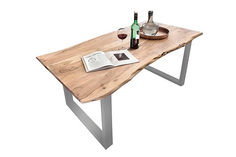 Ruokapöytä Arhunda - Puu/Luonnonväri/Punainen/Hopea - Huonekalut - Pöydät - Ruokapöydät & keittiön pöydät