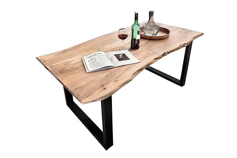 Ruokapöytä Arhunda - Puu/Luonnonväri/Punainen/Musta - Huonekalut - Pöydät - Ruokapöydät & keittiön pöydät
