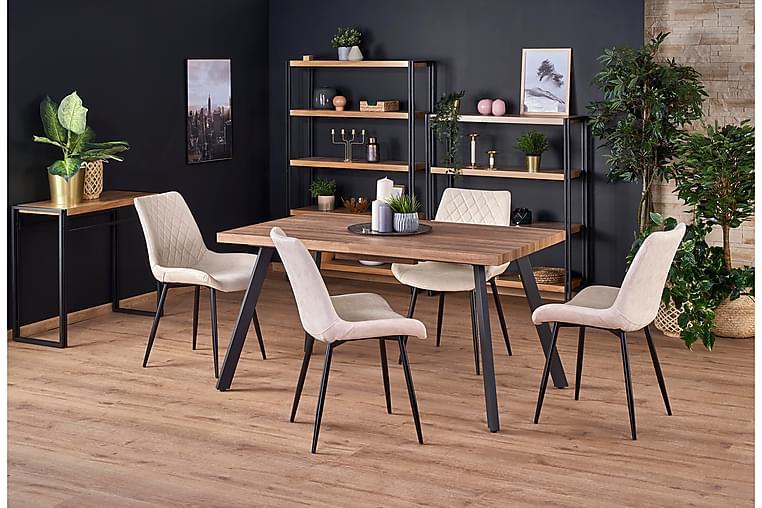 Ruokapöytä Britz Jatkettava 140 cm - Pähkinä/Musta - Huonekalut - Pöydät - Ruokapöydät & keittiön pöydät