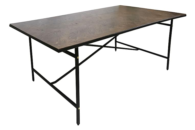 Ruokapöytä Cilja 200 cm - Musta/Ruskea - Huonekalut - Pöydät - Ruokapöydät & keittiön pöydät