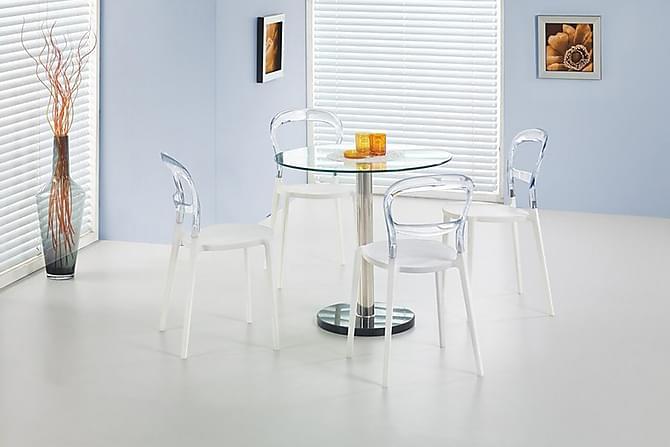 Ruokapöytä Dolan 80 cm Pyöreä - Lasi - Huonekalut - Pöydät - Ruokapöydät & keittiön pöydät