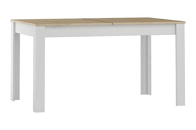 Ruokapöytä Elicia Jatkettava 140 cm - Valkoinen/Vaalea puu - Huonekalut - Pöydät - Ruokapöydät & keittiön pöydät