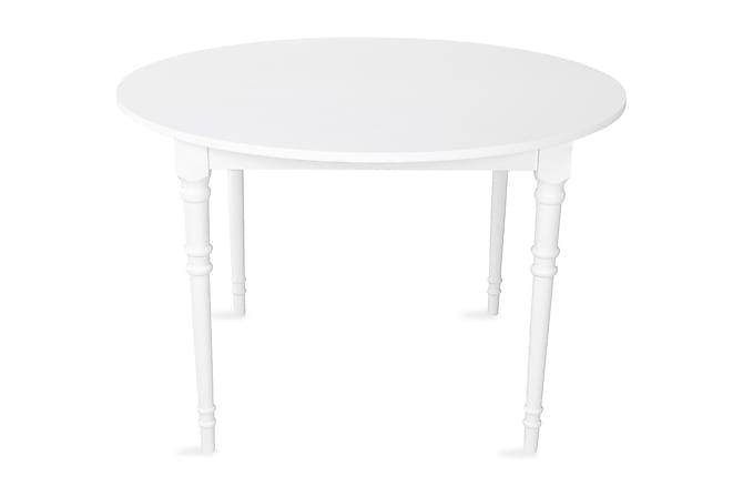 Ruokapöytä Erin Jatkettava 115 cm Pyöreä - Valkoinen - Huonekalut - Pöydät - Ruokapöydät & keittiön pöydät