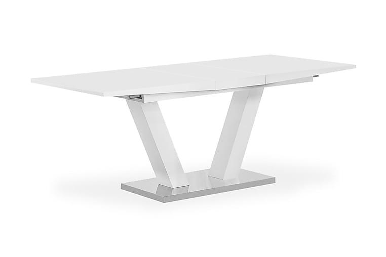 Ruokapöytä Harber Jatkettava 160 cm - Valkoinen - Huonekalut - Pöydät - Ruokapöydät & keittiön pöydät
