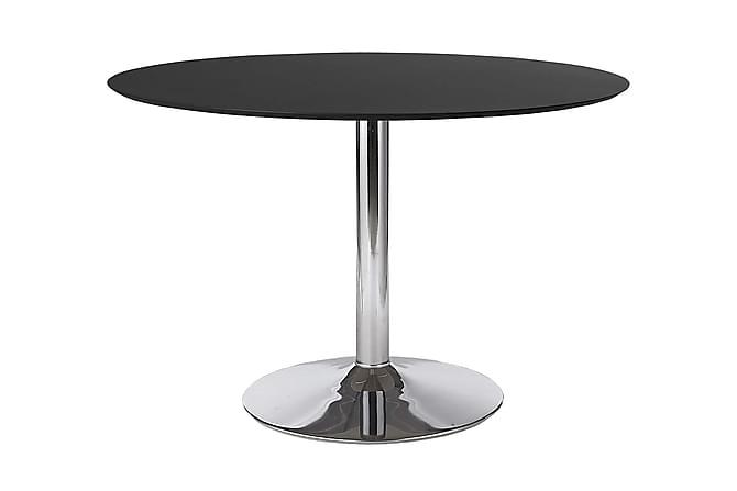 Ruokapöytä Ibizar 110 cm Pyöreä - Musta/Kromi - Huonekalut - Pöydät - Ruokapöydät & keittiön pöydät