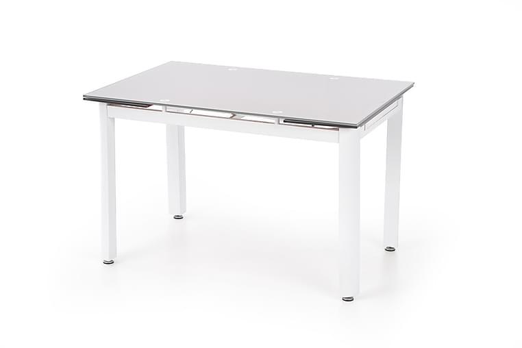 Ruokapöytä Isola Jatkettava 120 cm Lasi - Beige/Valkoinen - Huonekalut - Pöydät - Ruokapöydät & keittiön pöydät