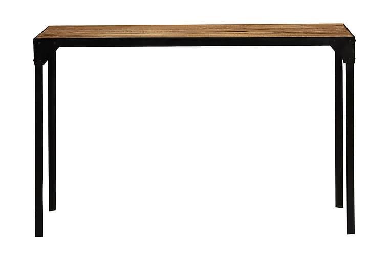 Ruokapöytä karkea mangopuu ja teräs 120 cm - Ruskea - Huonekalut - Pöydät - Ruokapöydät & keittiön pöydät