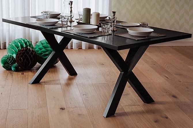 Ruokapöytä Lisala 180 cm - Musta - Huonekalut - Pöydät - Ruokapöydät & keittiön pöydät