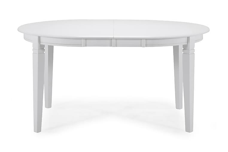 Ruokapöytä Lowisa Jatkettava 150 cm Ovaali - Valkoinen - Huonekalut - Pöydät - Ruokapöydät & keittiön pöydät