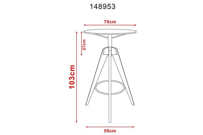 Ruokapöytä Markena 60x105 cm - Puu/Luonnonväri - Huonekalut - Pöydät - Marmoripöydät