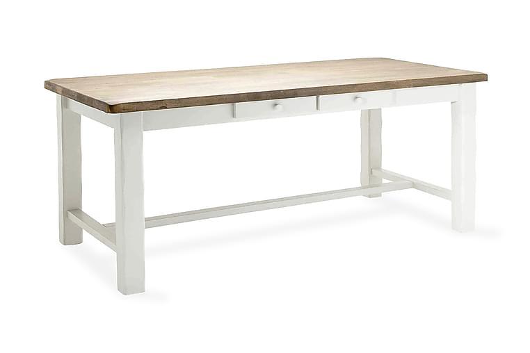 Ruokapöytä Marseille Jatkolevy 190 cm - Valkoinen/Harmaa - Huonekalut - Pöydät - Ruokapöydät & keittiön pöydät