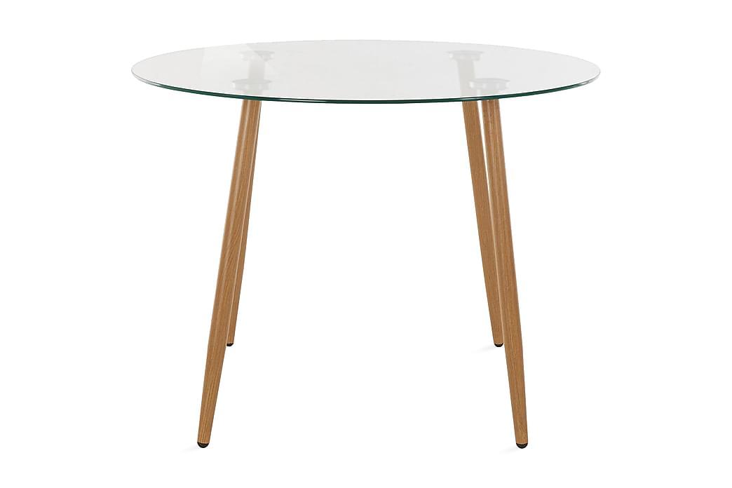 Ruokapöytä Miana 100 cm Pyöreä Lasi - Ruskea - Huonekalut - Pöydät - Ruokapöydät & keittiön pöydät