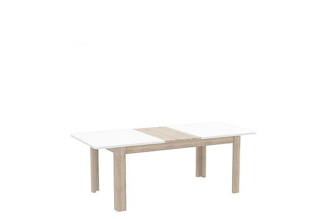 Ruokapöytä Mincey 120 cm - Valkoinen/tammi - Huonekalut - Pöydät - Ruokapöydät & keittiön pöydät