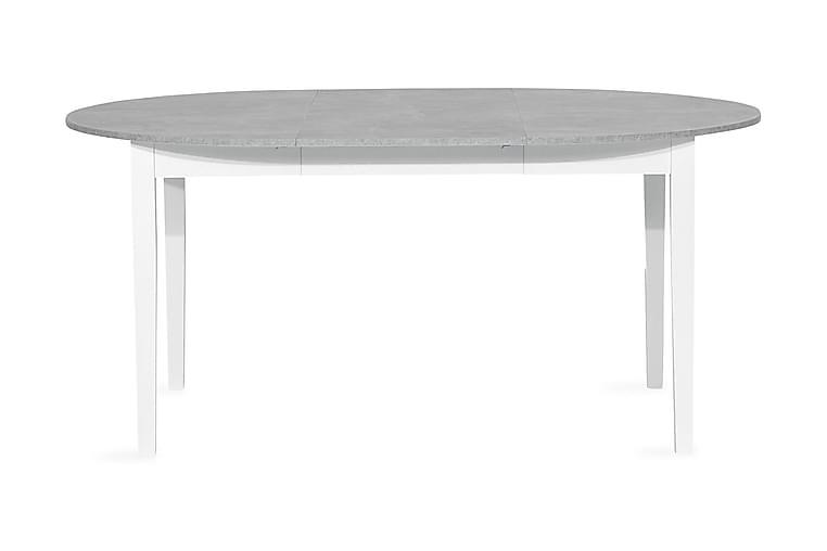 Ruokapöytä Montague Jatkettava 115 cm Pyöreä - Valkoinen/Harmaa - Huonekalut - Pöydät - Ruokapöydät & keittiön pöydät