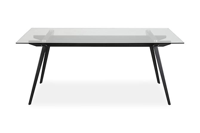 Ruokapöytä Monti 180 cm - Lasi/Musta - Huonekalut - Pöydät - Ruokapöydät & keittiön pöydät