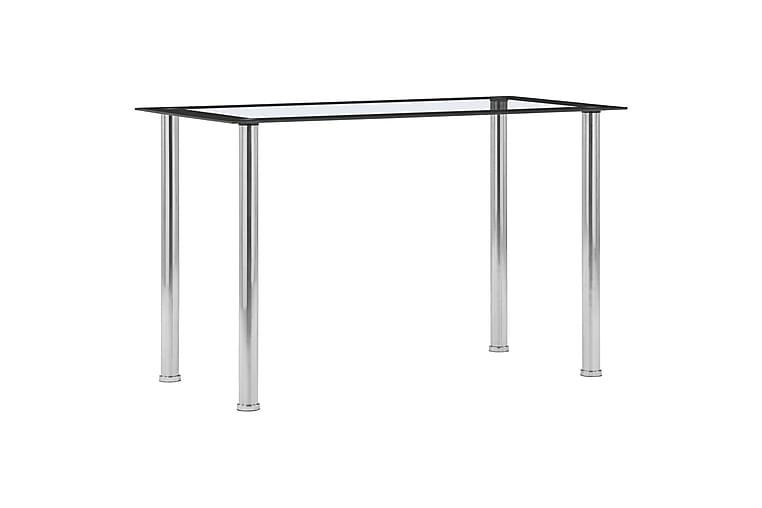 Ruokapöytä musta ja läpinäkyvä 120x60x75 cm karkaistu lasi - Musta - Huonekalut - Pöydät - Ruokapöydät & keittiön pöydät