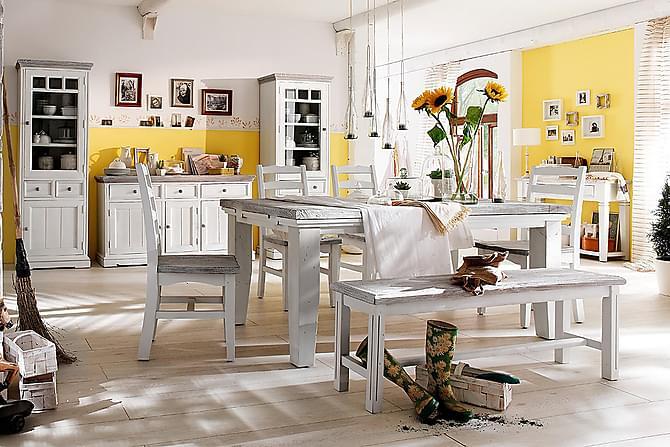 Ruokapöytä Opus Jatkettava 140 cm - Puu/Valkoinen - Huonekalut - Pöydät - Ruokapöydät & keittiön pöydät