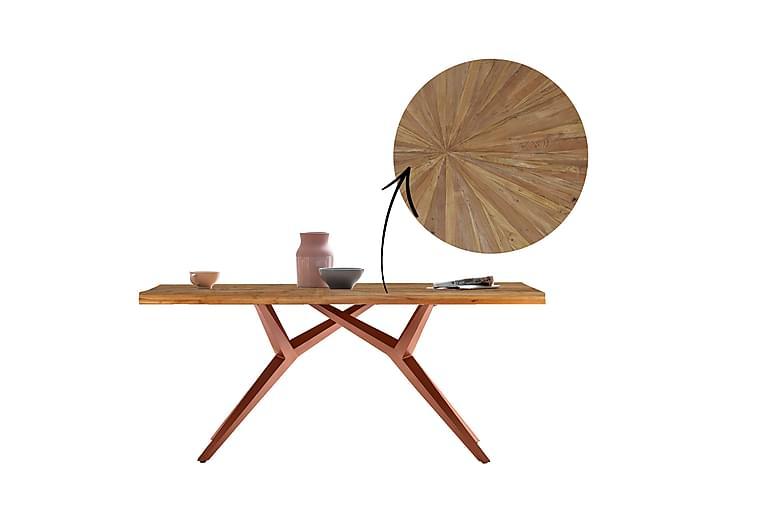 Ruokapöytä Raital 160x90 cm - Kierrätetty tiikki/Ruskea - Huonekalut - Pöydät - Ruokapöydät & keittiön pöydät