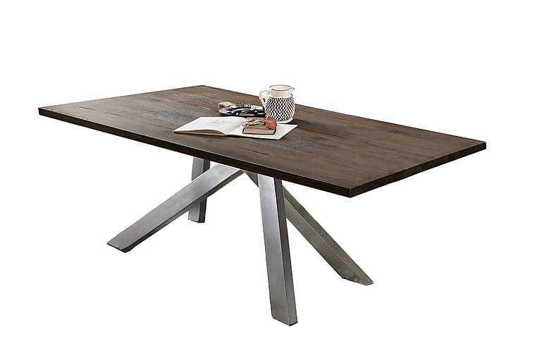 Ruokapöytä Raital 180x100 cm - Harmaa/Hopea - Huonekalut - Pöydät - Ruokapöydät & keittiön pöydät
