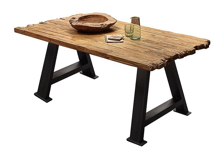 Ruokapöytä Raital 180x100 cm - Kierrätetty tiikki/Musta - Huonekalut - Pöydät - Ruokapöydät & keittiön pöydät