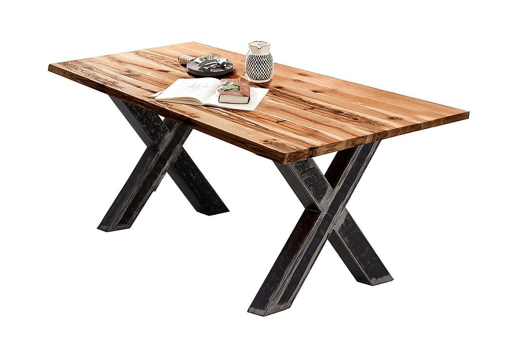 Ruokapöytä Raital 180x100 cm - Tammi/Hopea - Huonekalut - Pöydät - Ruokapöydät & keittiön pöydät