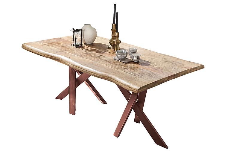 Ruokapöytä Raital 180x90 cm - Mango/Luonnonväri/Ruskea - Huonekalut - Pöydät - Ruokapöydät & keittiön pöydät
