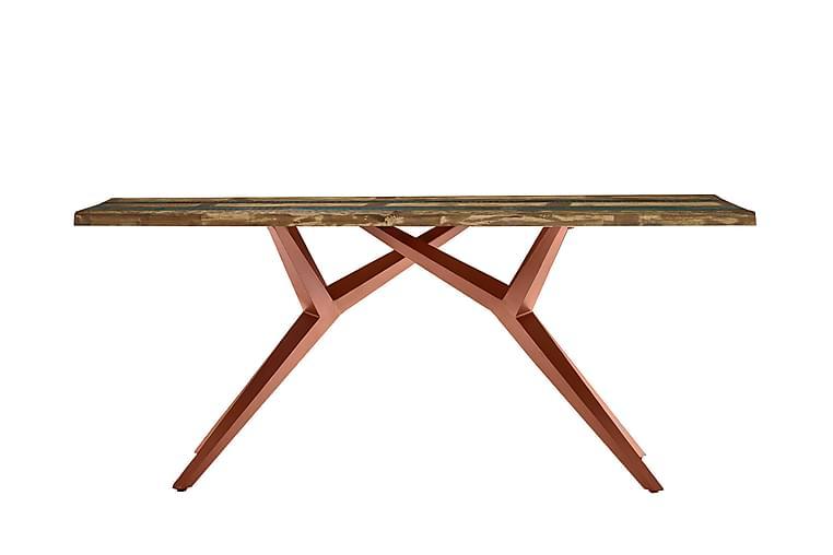 Ruokapöytä Raital 200x100 cm - Kierrätetty puu/Monivär/Ruskea - Huonekalut - Pöydät - Ruokapöydät & keittiön pöydät