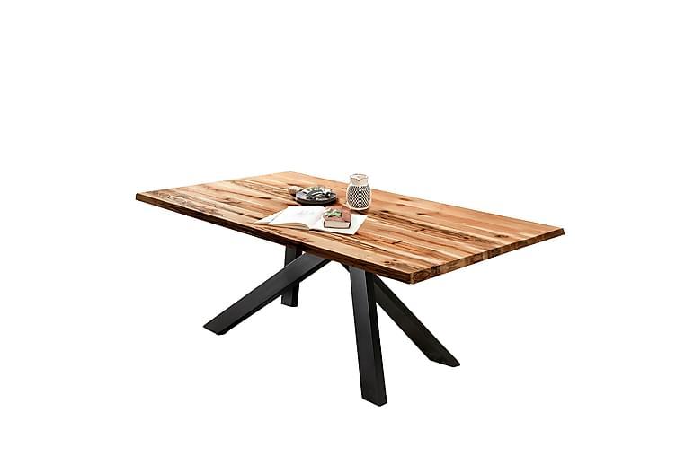 Ruokapöytä Raital 220 cm - Tammi / Musta - Huonekalut - Pöydät - Ruokapöydät & keittiön pöydät