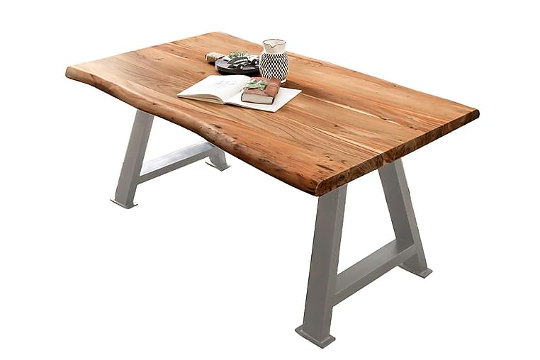 Ruokapöytä Raital 240 cm - Akaasia/Hopea - Huonekalut - Pöydät - Ruokapöydät & keittiön pöydät
