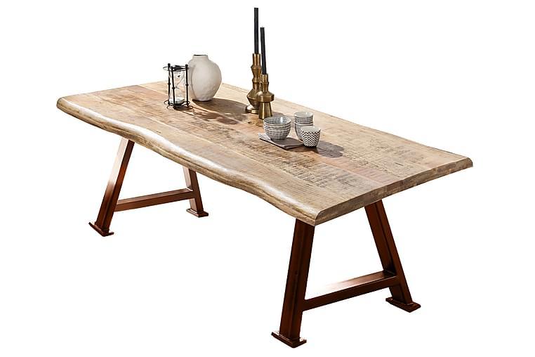 Ruokapöytä Raital 240 cm - Mango/Luonnonväri/Ruskea - Huonekalut - Pöydät - Ruokapöydät & keittiön pöydät
