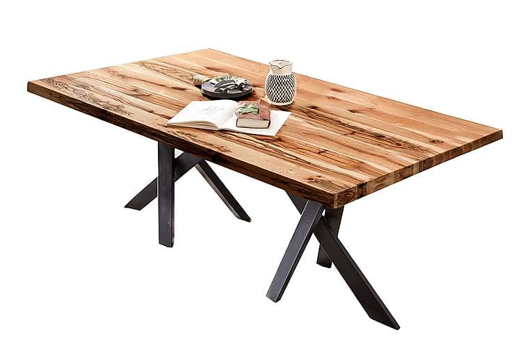 Ruokapöytä Raital 240 cm - Tammi / Musta - Huonekalut - Pöydät - Ruokapöydät & keittiön pöydät