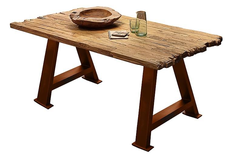 Ruokapöytä Raital 240 cm - Tiikki/Ruskea - Huonekalut - Pöydät - Ruokapöydät & keittiön pöydät