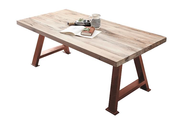 Ruokapöytä Raital 240 cm - Valkoinen / Ruskea - Huonekalut - Pöydät - Ruokapöydät & keittiön pöydät