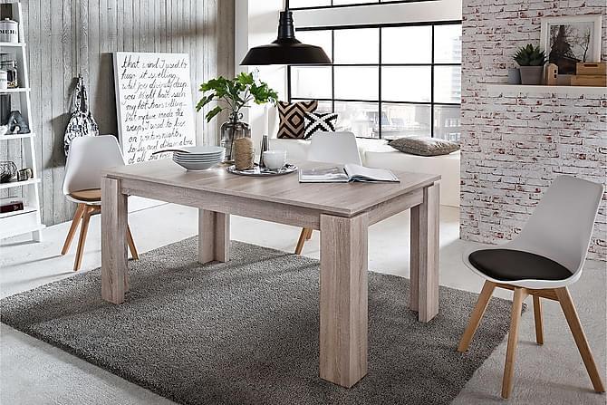 Ruokapöytä Rifallet Jatkettava 160 cm - Puu/Luonnonväri - Huonekalut - Pöydät - Ruokapöydät & keittiön pöydät