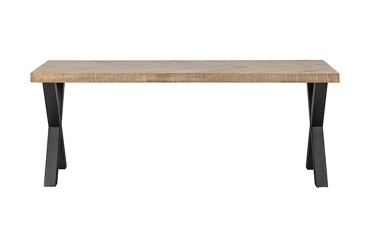 Ruokapöytä Tuor X-jalka 200 cm - Kalanruoto/Luonnonväri/Musta - Huonekalut - Pöydät - Ruokapöydät & keittiön pöydät