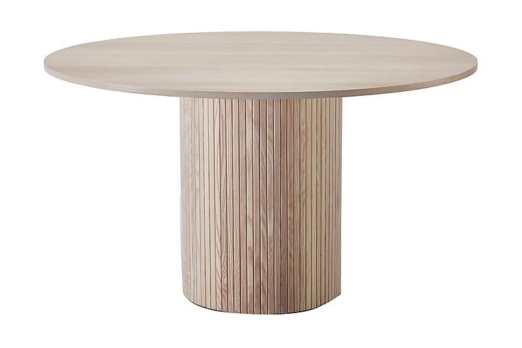 Ruokapöytä Uppveda Pyöreä 130 cm - Kuultovalkoinen - Huonekalut - Pöydät - Ruokapöydät & keittiön pöydät
