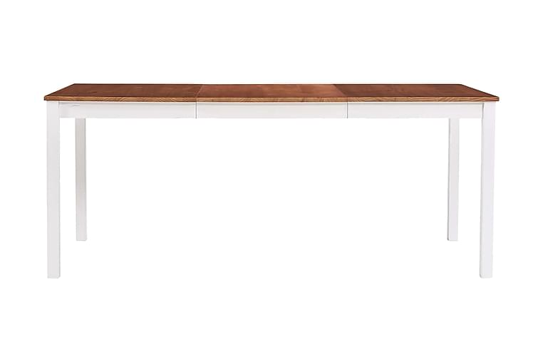 Ruokapöytä valkoinen ja ruskea 180x90x73 cm mänty - Ruskea - Huonekalut - Pöydät - Ruokapöydät & keittiön pöydät